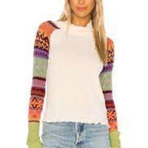 Free People Prism Sweater Fair Isle Pullover Boho